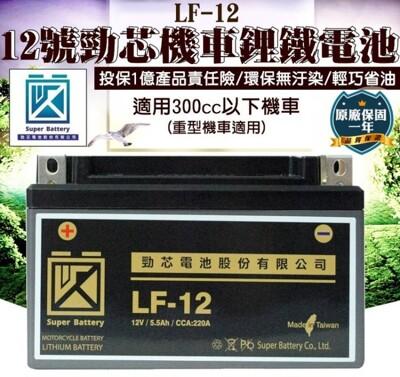 00012-229-興雲網購【12號勁芯機車鋰鐵電池】原廠保固一年 300cc以下適用 (5折)