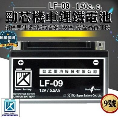 00009-229-興雲網購【9號勁芯機車鋰鐵電池】原廠保固一年 150cc以下適用 機車電池 (5折)