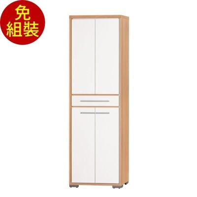 【原森道傢俱職人】卡蜜拉2x6.5尺雙面鞋櫃(雙色) 玄關櫃 展示櫃 收納櫃 (6折)