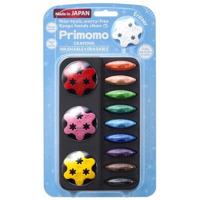 【Primomo】普麗貓趣味蠟筆12色(花瓣) - 附橡皮擦 (5.8折)