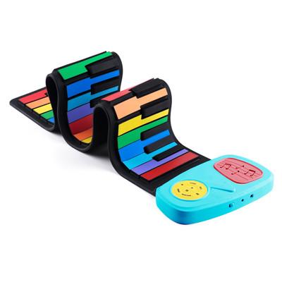 傳揚 攜帶型49鍵高音質手捲電子琴-彩虹琴鍵 (IP49) (6.6折)
