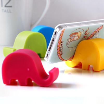 可愛大象 手機座/支撐架/平板支架 手機小支架多功能手機創意固定座 -顏色隨機 A010100099 (1.3折)