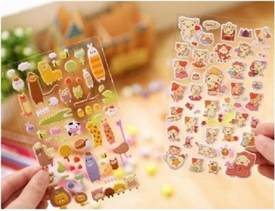 韓國 潮流 立體 泡棉 裝飾 貼紙 卡通 萌物 DIY手機殼 相框 貼紙 A010100180 (5折)
