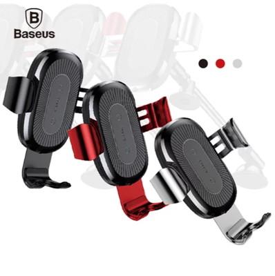【Baseus】 倍思 黏貼式重力無線車用支架 手機支架 手機架 車用支架 車載支架【迪特軍】 (9.1折)