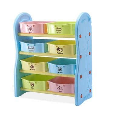 IDEA-馬卡龍色系兒童四層玩具收納架 (3折)