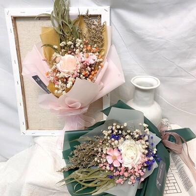 晞·紫羅蘭玫瑰花束 乾燥花束 情人節禮物 情人節花束 畢業花束 (6.7折)