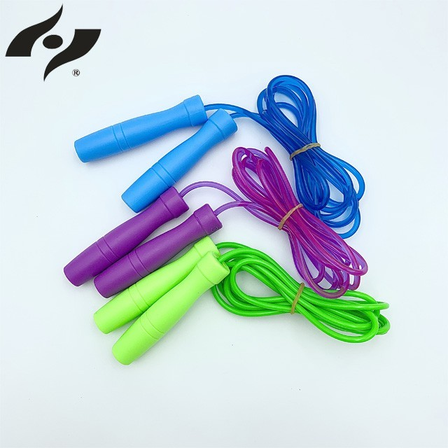 果凍跳繩(藍)/彩色跳繩/計時跳繩/實心跳繩/便宜跳繩/瘦身跳繩