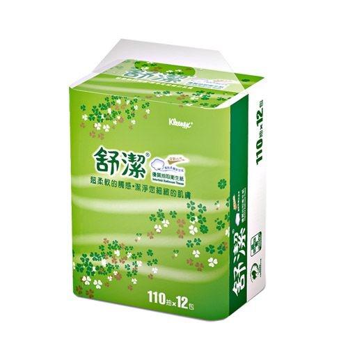 舒潔抽取式衛生紙-110抽(12包x6串/箱)