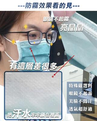【怡賓】眼鏡防霧型醫療級三層口罩50片/盒x4-莫蘭迪綠(YB-S3AF) (7折)