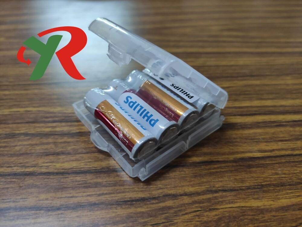 附發票 3號4號電池收納盒 aa aaa 電池盒