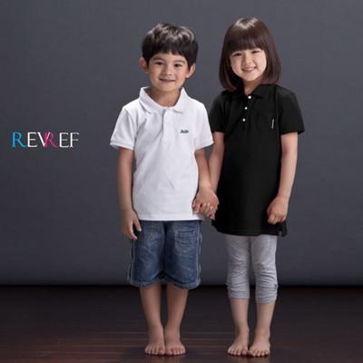 REVREF 小女孩經典長版POLO衫 (1.6折)