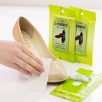護鞋士 一次性去污上光擦鞋巾 皮具護理濕巾 (0.5折)