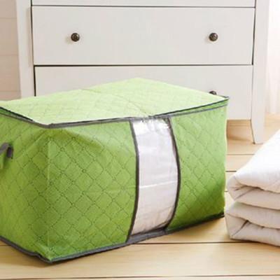 竹炭棉被收納袋 衣物收納袋 防塵袋 收納箱 (單入/不挑色) (4.4折)