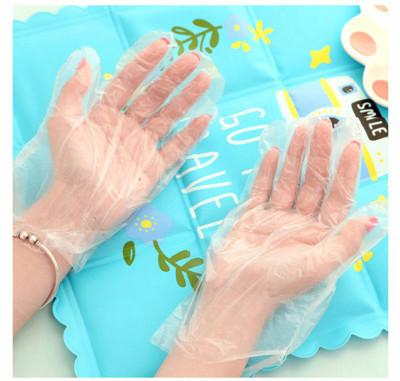 PE一次性薄款手套 家事手套 手扒雞手套 染髮手套 (0.1折)
