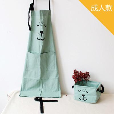 棉麻手繪熊熊烘焙親子圍裙-成人款 (4.3折)