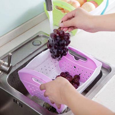 可折疊蔬果瀝水籃 (5折)