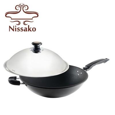 【台灣製造】Nissako 遠紅外線陶瓷不沾鍋 36cm 炒鍋 (9.5折)