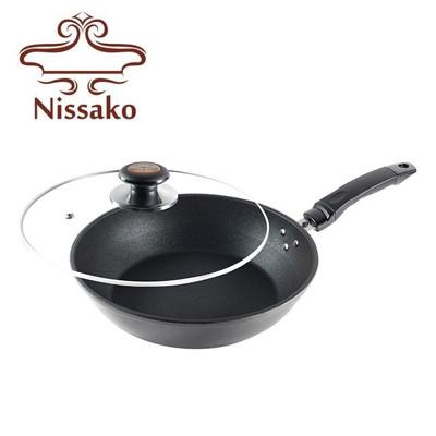 【台灣製造】Nissako 遠紅外線陶瓷不沾鍋 30cm 平底鍋 (9.4折)