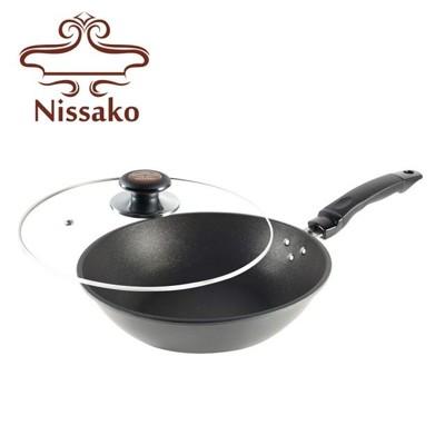 【台灣製造】Nissako 遠紅外線陶瓷不沾鍋 28cm 平底鍋 (9.3折)