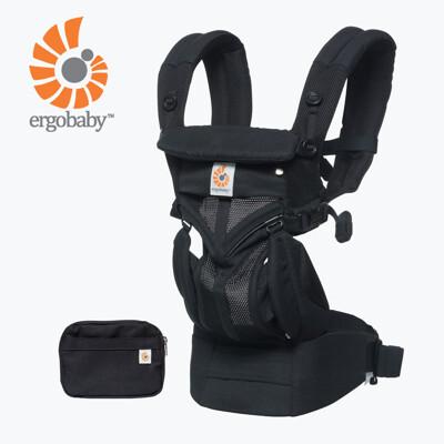 【Ergobaby】 Omni全階段型四式360透氣款嬰兒揹巾/揹帶-黑瑪瑙