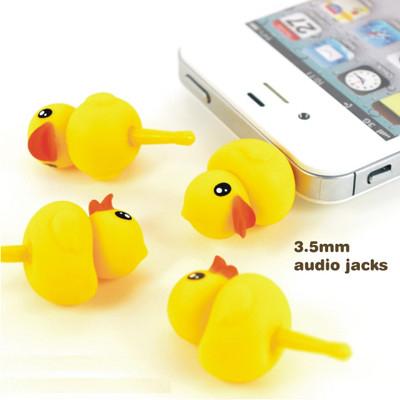 黃色小鴨造型 手機防塵塞 (5.3折)