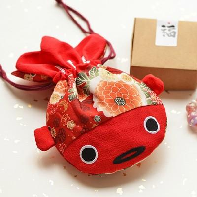 金魚束口袋 大紅束口收納袋 生日禮品 想購了超級小物 (6.7折)
