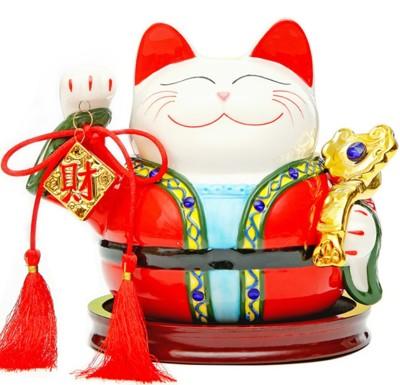 開運招財貓 吉祥如意 陶瓷招財貓存錢筒 想購了超級小物 (5.9折)
