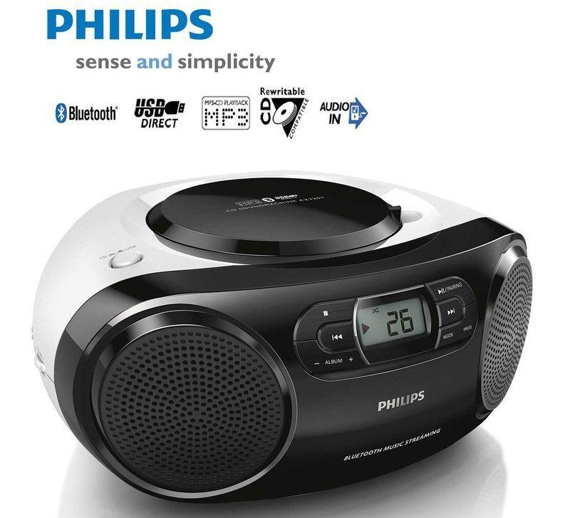 philips飛利浦手提 cd/mp3藍芽音響 az330t 可支援usb播放