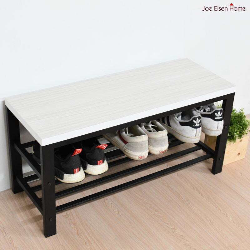 浮雕白橡木穿鞋椅 鞋架 置物櫃 收納櫃 收納架 穿鞋椅 mit 台灣製 | 喬艾森