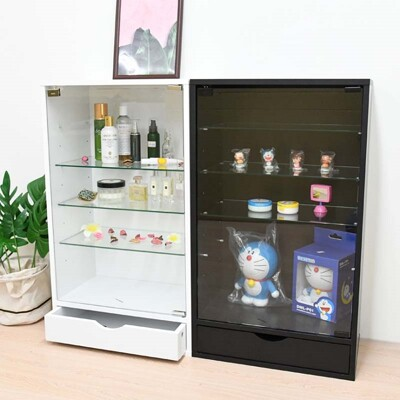加深(附抽屜)玻璃展示櫃 收納櫃 模型櫃 公仔櫃 玻璃櫃 收藏櫃  | 喬艾森