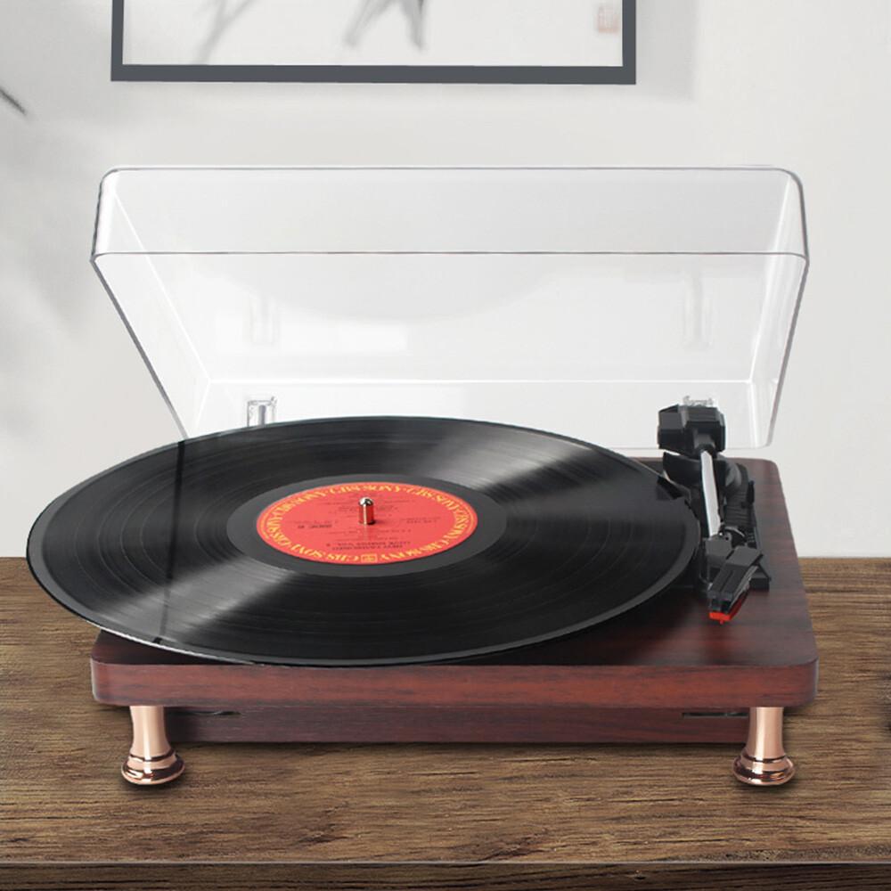 新北現貨留聲機 仿古便攜復古客廳歐式家用lp黑膠唱片機 老式電唱機