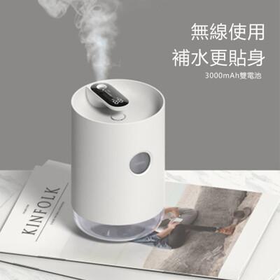 🔥香薰加濕器水氧機辦公室桌面小型usb充電家用靜音臥室大容量迷你便攜上加水無線噴霧