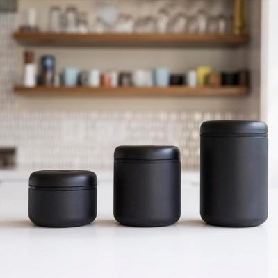 fellow atmos 不銹鋼真空密封罐 0.7L磨砂黑 咖啡豆密封罐/保鮮盒/真空密 (10折)