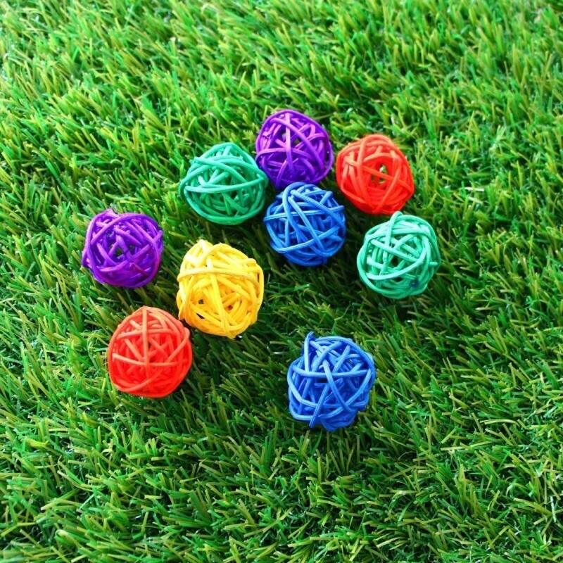<現貨免等>幼兒園佈置系列-小柳球藤球吊飾出貨皆彩色不挑色 - 8公分