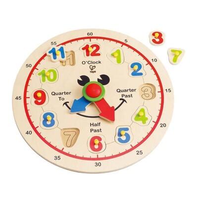 <現貨免等>德國hape愛傑卡木製玩具-歡樂時鐘積木happy hour clock (9.3折)