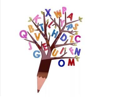 🔺現貨免等🔺英文字母樹!壓克力立體3D牆面佈置,免裝潢設計直接提升環境佈置!厚度0.2公分(中)
