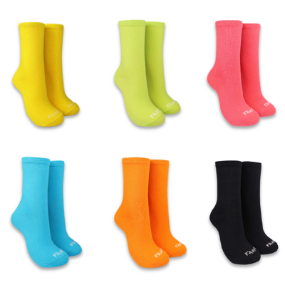 【FAAM】Fluoro Socks 100%台灣製 螢光襪 中筒襪 百搭 抗菌除臭 中筒襪 七款 (5.5折)
