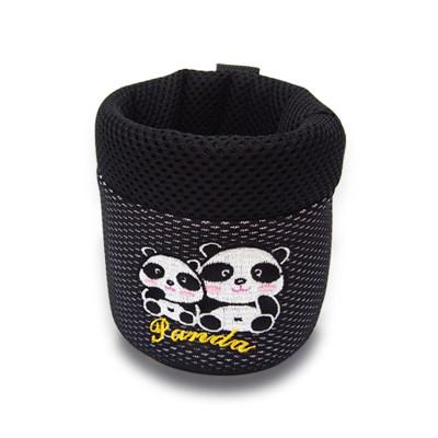 【安伯特】 竹炭 熊貓冷氣口置物袋 圓仔 卡通圖案 收納袋 手機架 透氣 抗菌除臭 (5折)