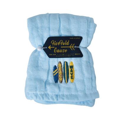 【NICOTT】日本五重珍珠紗方巾〈水漾海灘〉 (10折)