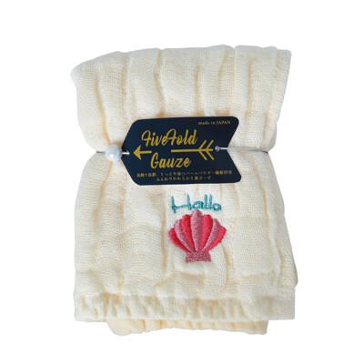 【NICOTT】日本五重珍珠紗方巾〈鵝黃海貝〉 (10折)