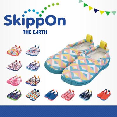 日本 SkippOn「ISEAL VU系列」兒童休閒機能鞋〈幾何馬卡龍 〉 (10折)