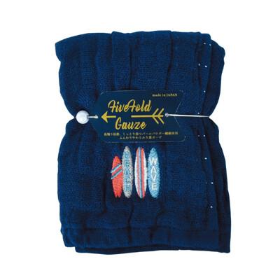 【NICOTT】日本五重珍珠紗方巾〈仲夏海灘〉 (10折)