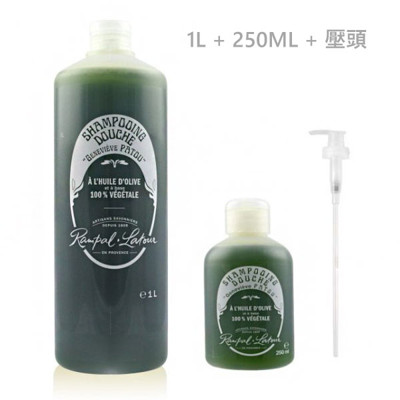 【南法香頌】歐巴拉朵 特級橄欖油沐浴乳 銀髮/嬰兒 ( 1L + 250ML + 專用壓頭 ) (9.1折)