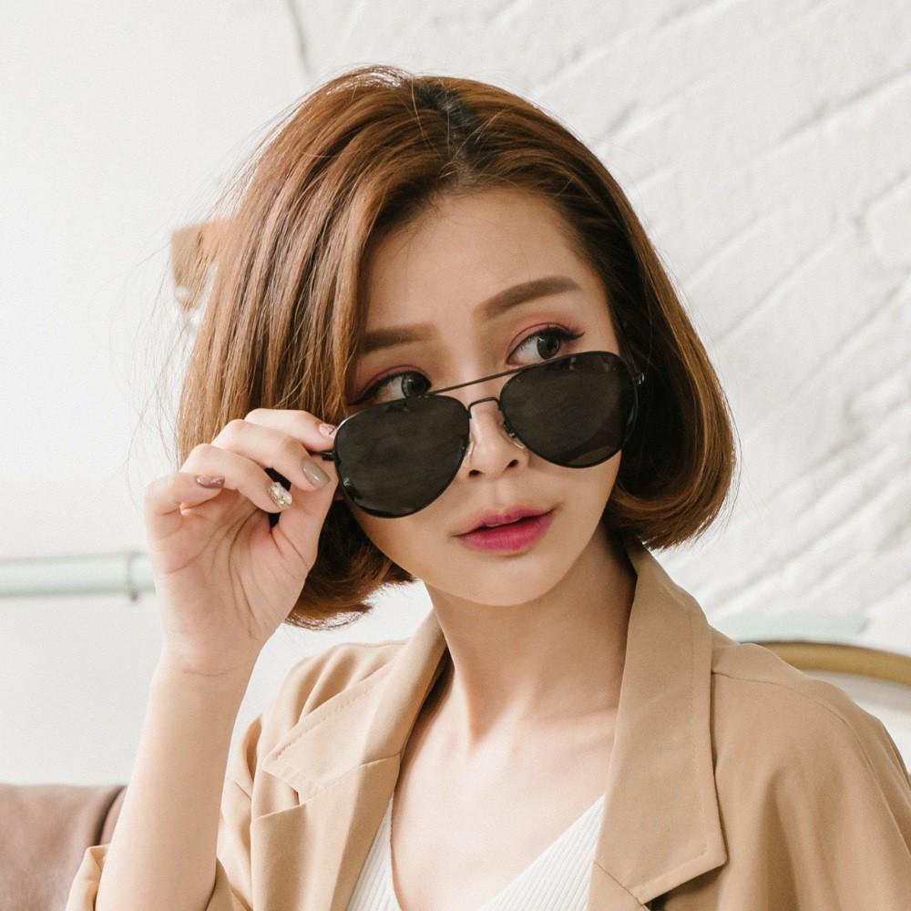 飛官造型消光黑雷朋寶麗來偏光墨鏡uv400太陽眼鏡alegant