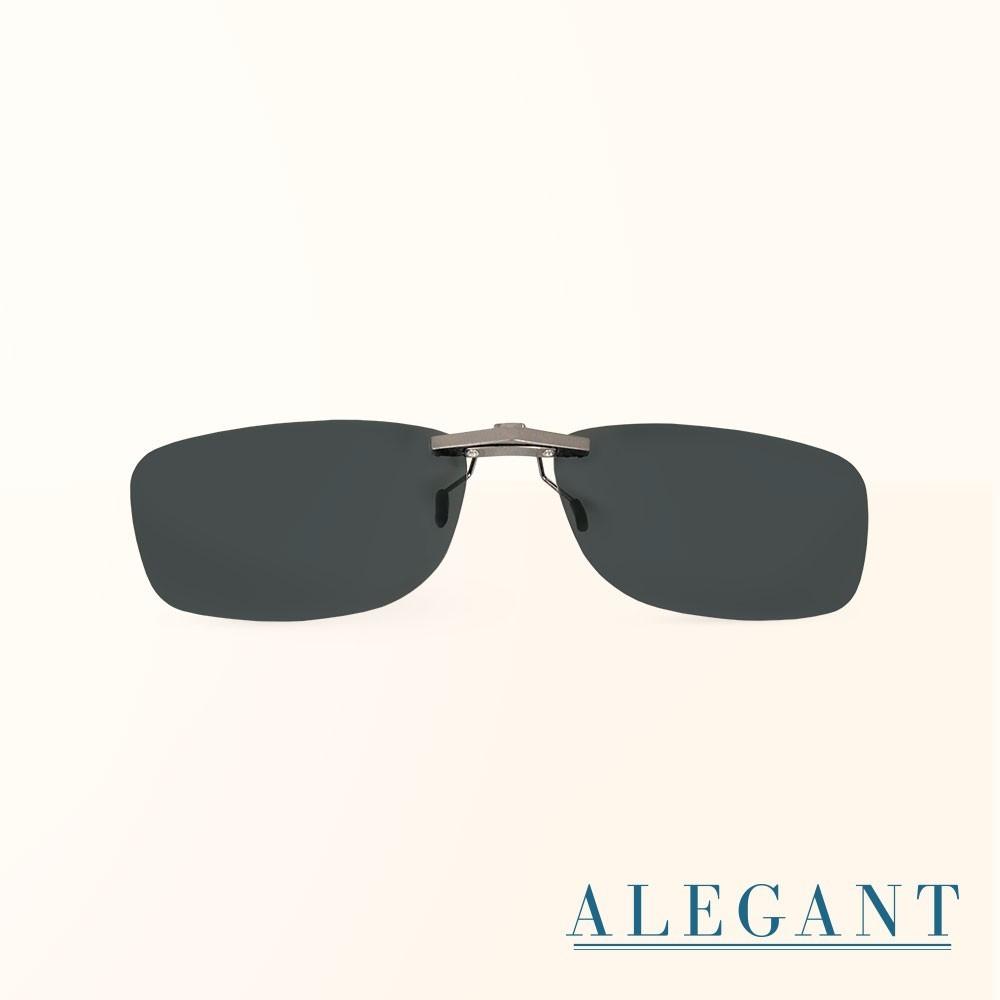 太空灰鋁鎂合金夾式結構寶麗來偏光太陽眼鏡uv400墨鏡車用夾片外掛夾式鏡片近視可戴外掛寶麗來