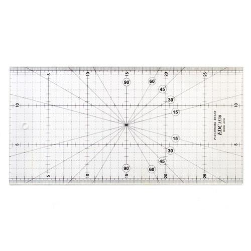 edc1530 專業防刮拼布尺 30x15cm