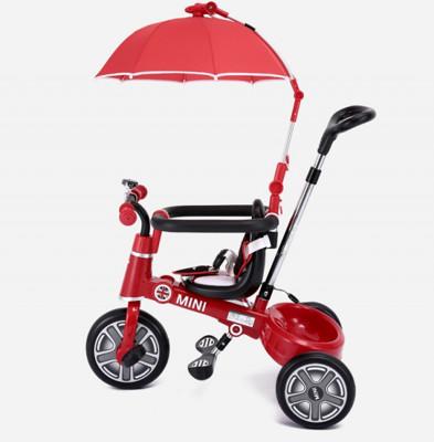MINI正版授權 兒童摺疊三輪車(兒童推車、 學步車、 腳踏車 3種階段)3合1 (7.1折)