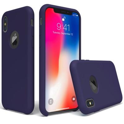 (必買)IPHONE X 原廠同款液態矽膠殼/手機殼 防止手滑/耐刮耐劃/不吸塵/不黏指紋(海軍藍) (7.1折)