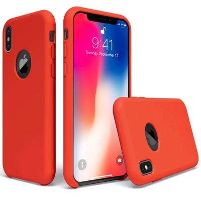 IPHONE X 原廠同款液態矽膠殼/手機殼 防止手滑/耐刮耐劃/不吸塵/不黏指紋/易清潔(熱情紅) (7.1折)