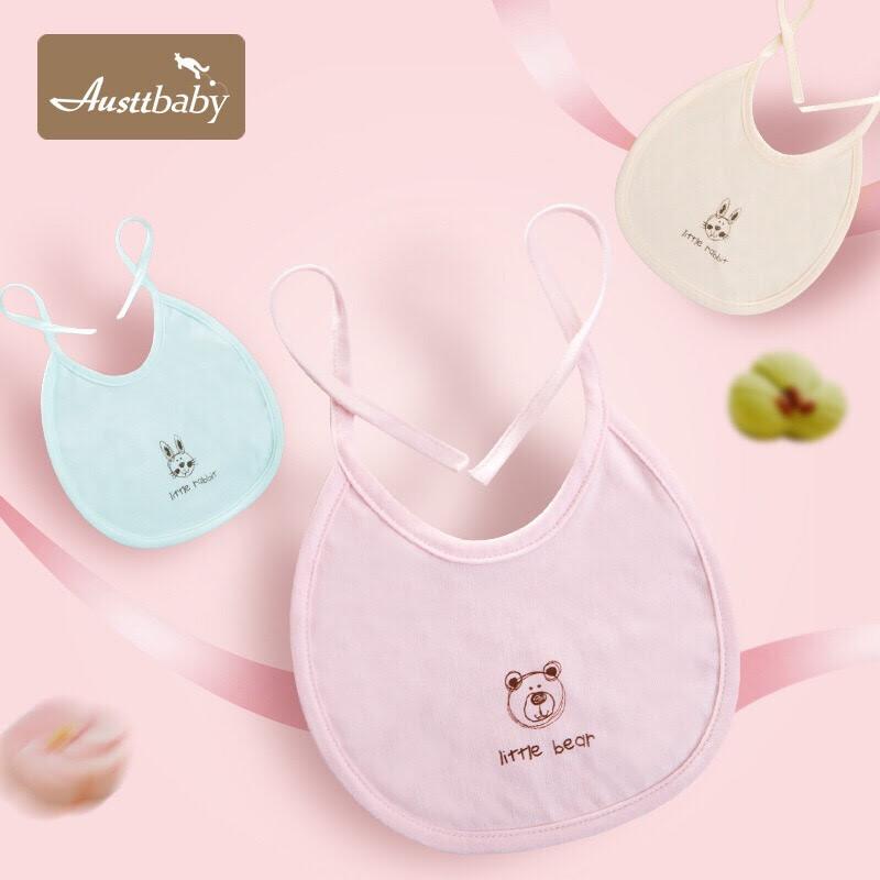 嬰兒圍嘴口水巾嬰兒吃飯兜寶寶口水兜棉質寶寶圍兜-5條裝